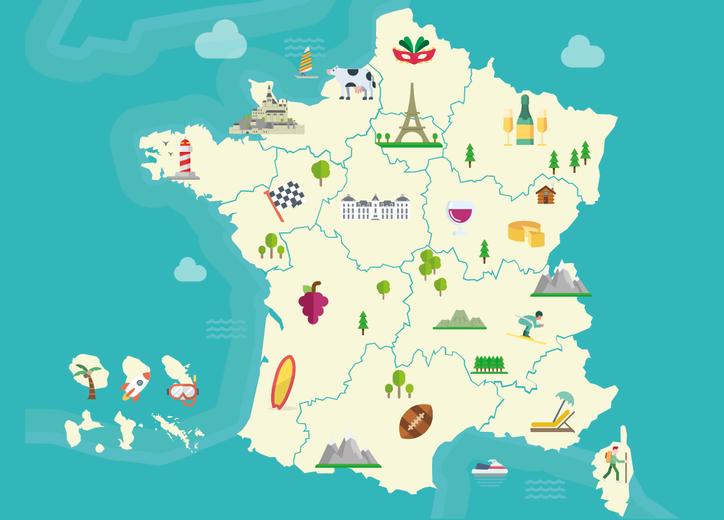 carte de france des regions A la découverte des régions françaises | Campus France